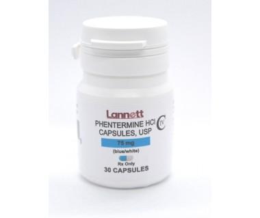 Phentermine HCI 75 mg Brand Lannett