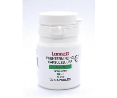 Phentermine Hydrochloride Adipex 37.5 mg Brand B